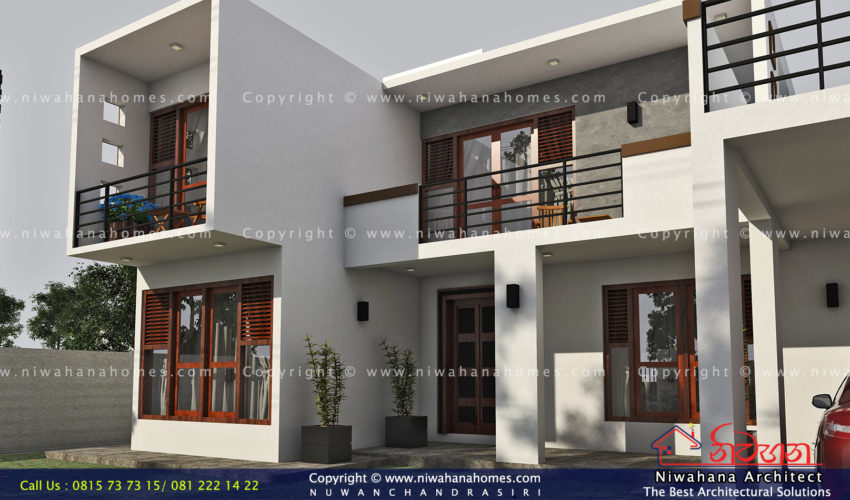 Modern concept fully boxes type home at Haragama