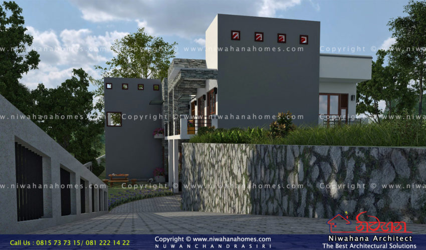 Modern Boxes Concept House Design For Mr. Viraj Perera.
